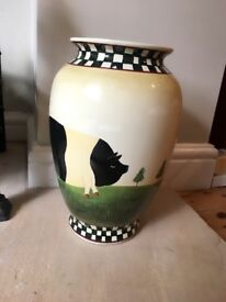 Hand painted porcelain vase