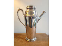 William Rogers Art Deco silver plated cocktail shaker