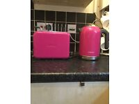 Kenwood Kmix Toaster and Kettle in Magenta