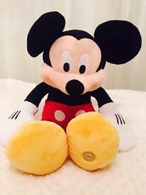 Large Mickey and Minnie Mouse soft toys