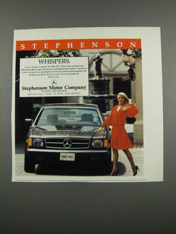 1983 Stephenson Motor Company Mercedes-Benz 380 SEC Ad