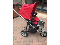 Icandy Apple Jogger pushchair ( 3 wheel )and carrycot Travel system