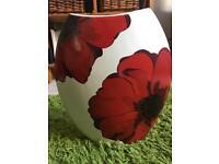 Decorative Cushions and vase poppy