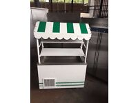 TROLLEY FRIDGE OUTDOOR CHILLER FOR EVENTS CAFE SHOP OUT DOOR TROLLEY REFRIGERATED COUNTER ON WHEELS