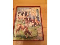 Wooden cows jigsaw