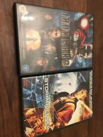 Iron man 2 & stormbreaker dvd