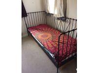Beautiful day bed single size. Ikea mattress included. Like new. £60