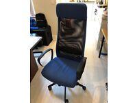 Office chair IKEA blue black MARKUS Vissle