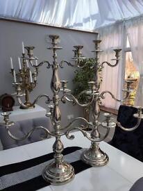 Tall candelabras