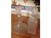 FOR SALE TWO CRYSTAL DECANTERS