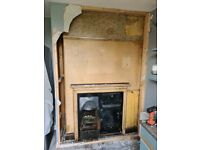Yorkist black built-in non-working cast iron stove range antique - Buy and remove £250