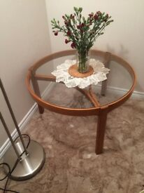 Nathan glass topped coffee table/nest of tables