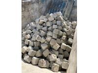 Granite cobble stones and kerbs -Job Lot