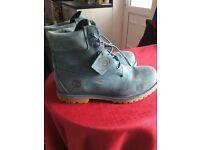 Women's Blue Nubuck Timberland boots size 7