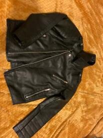 Boys 9yr leather biker jacket
