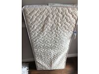 Mamas and Papas DELUXE sleep safe mattress approx 57 x 108cm