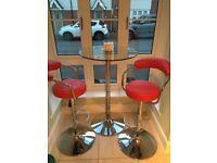 Bar table + 2 bar stools