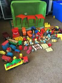 Large tub of Bob the Builder and plastic builders tools