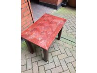 Very beautiful antique vintage cherry wooden tea table good quality 45x70x 55 (h) cm