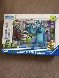 Monsters university giant floor puzzle