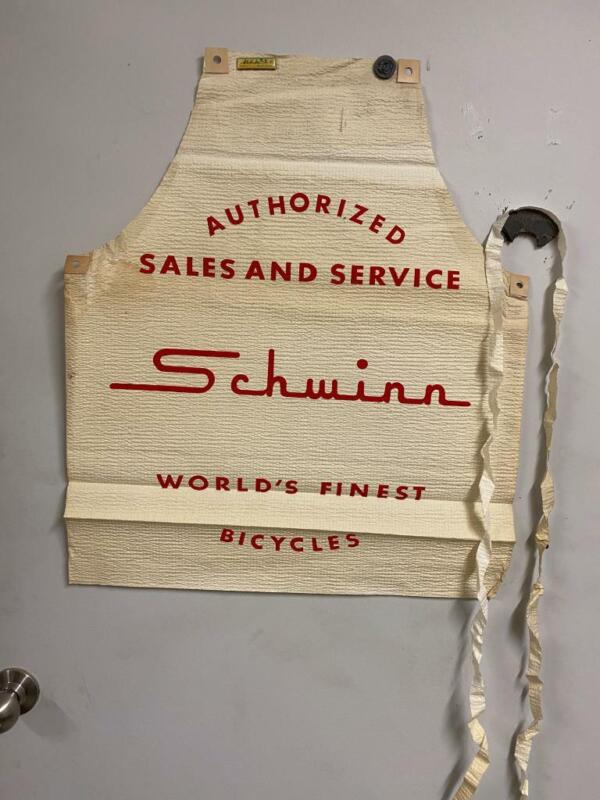 vintage new old stock SCHWINN Bicycle Co Promotional APRON 1960