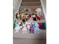 35 Beanie Babies (with tags) and 2 Beanie Buddies. All excellent condition.