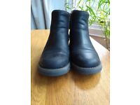 """Fly London """"Salv"""" black leather ankle boots"""