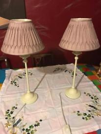 Two lamps for bedside or livingroom