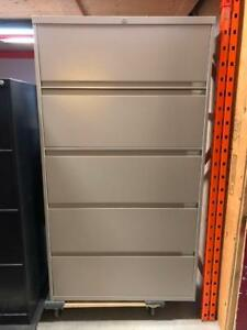 Steelcase 5 Drawer Lateral Filing Cabinets - $299