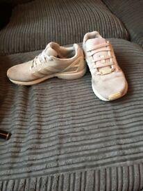 white Adidas flux
