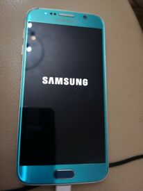 Samsung S6 32GB Topax Blue. Excellent, unblemished condition.
