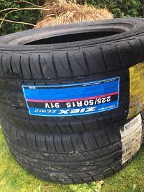 2 unused 225/50 R15 91V Falken ZIEX ZE912 tyres