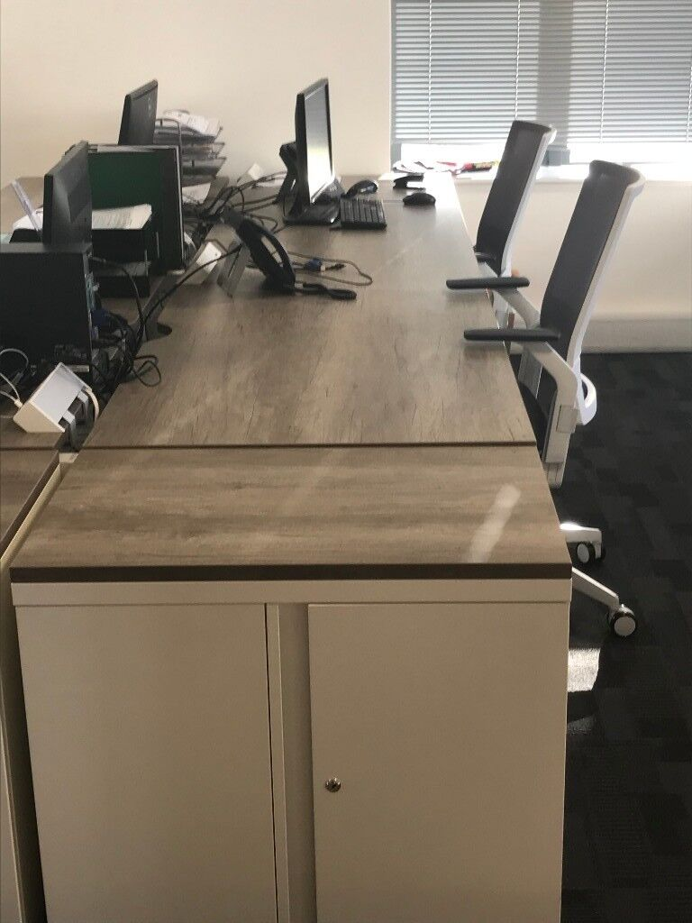 Desk and Pedestals