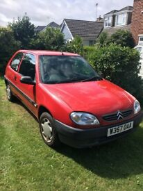 Citreon Saxo First, low mileage, reliable, 2 owners, service history - excellent first car