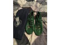 Irish jig shoes (green) size 6