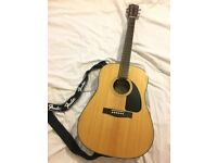 FENDER Acoustic Guitar CD-60 Natural wood colouring, excellent condition