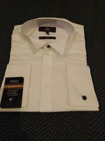 Brand New - Next Mens Slim Fit White Shirt