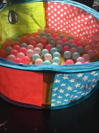 Toddler ball pit & bag of balls