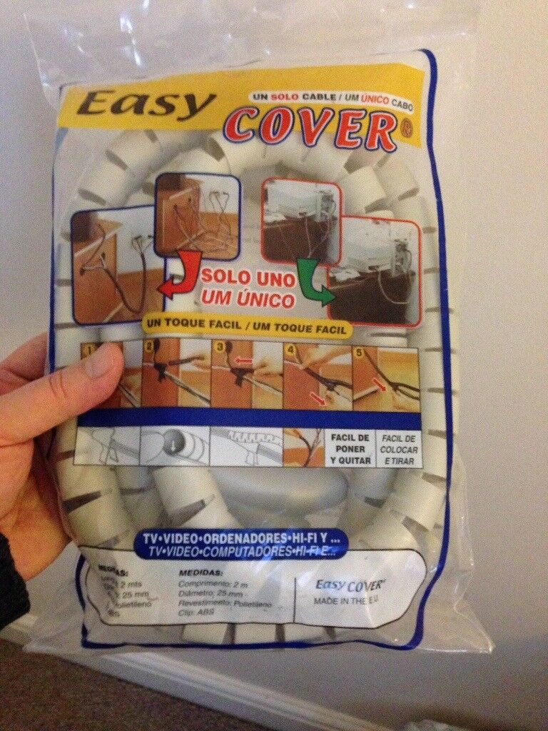 2 Metre Cable Tidy in Bag - New