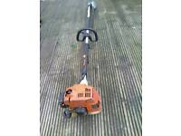 STIHL KM 85R PETROL KOMBI ENGINE WITH EXTENDED HEDGE CUTTING ATTACHMENT