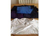 Quality men's clothes £5 per item, jacket £10, shirts, t-shirts.