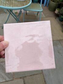 Tiles rose pink