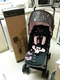 Silver cross pop buggy stroller pram butterflies boxed with rain covers