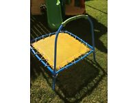 Toddler trampoline with bar