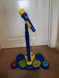 John Lewis toy - microphone with stand, different sounds/lights