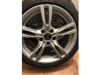 3 BMW 18 inch star alloys with Bridgestone run flats
