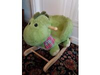 Green dinosaur rocker
