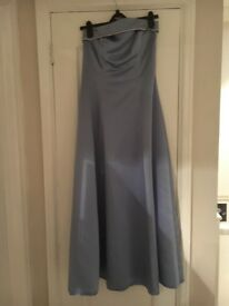 Lilac prom / wedding / evening gown and shawl