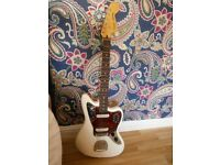 Squier Jaguar guitar (white) excellent condition