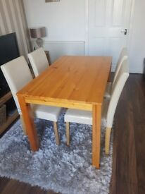 Solid table Perfect Condition Sorry chairs now sold.